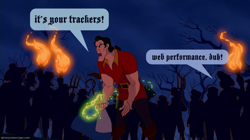 it's your trackers! web performance, duh!