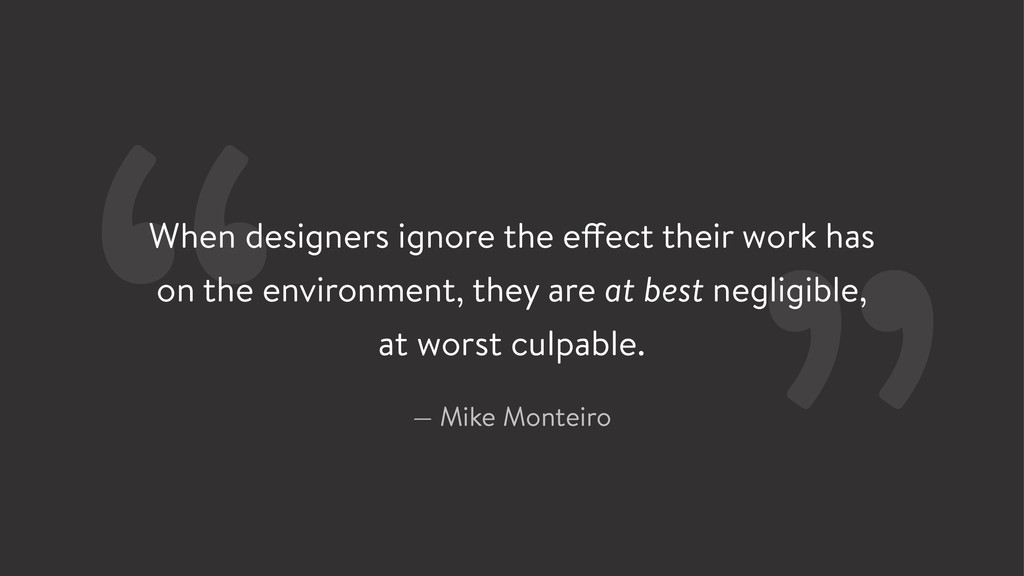 When designers ignore the effect their work has...