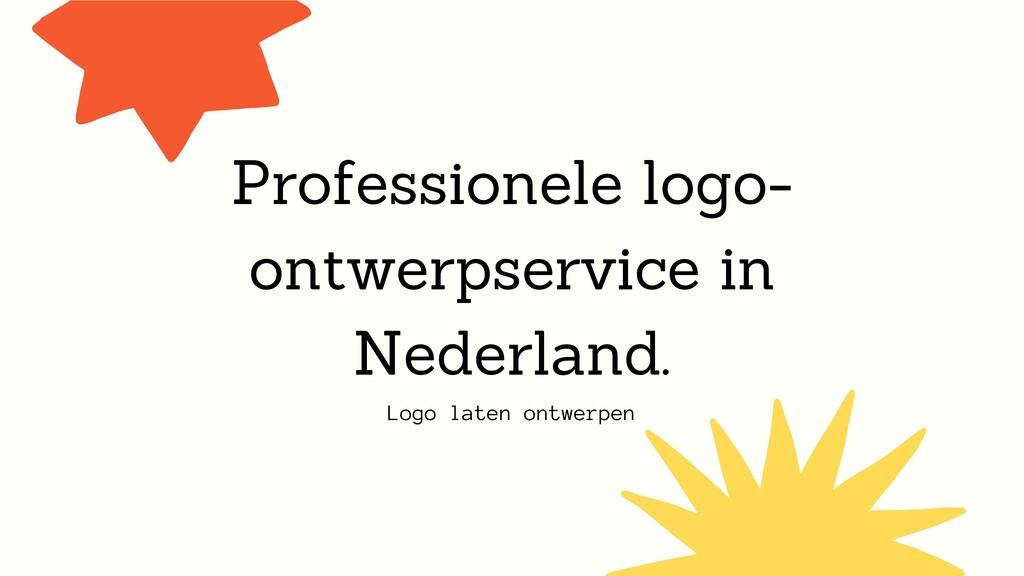 Logo laten ontwerpen Professionele logo- ontwer...