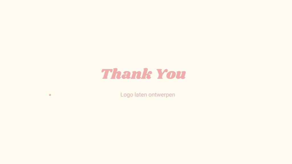 Thank You Logo laten ontwerpen