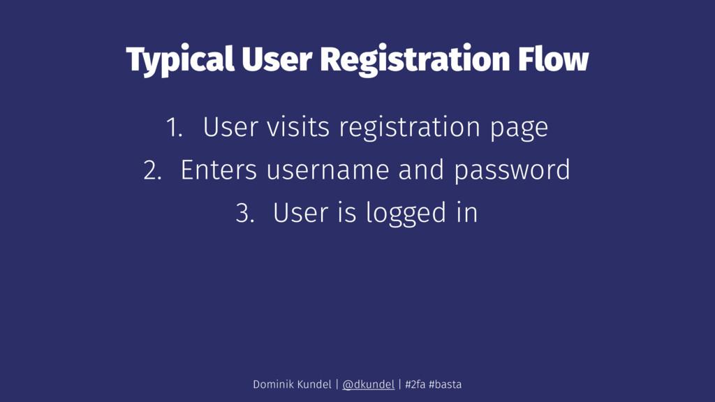 Typical User Registration Flow 1. User visits r...