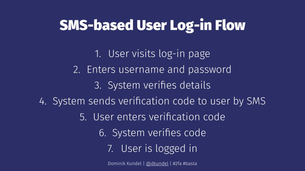 SMS-based User Log-in Flow 1. User visits log-i...