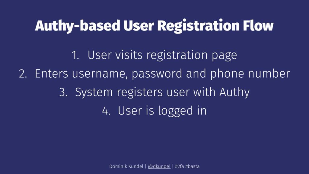Authy-based User Registration Flow 1. User visi...