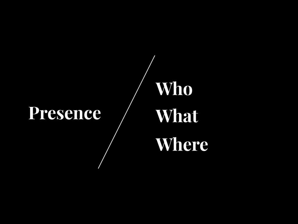 Who What Where Presence