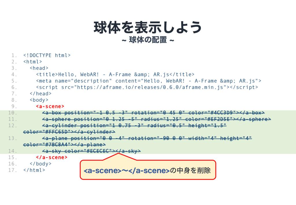 ٿମΛදࣔ͠Α͏ dٿମͷஔ d <!DOCTYPE html> <html> <head...