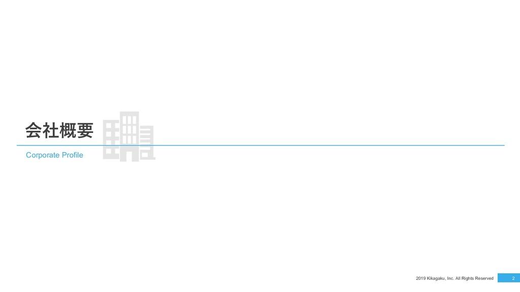 2019 Kikagaku, Inc. All Rights Reserved 2 会社概要 ...