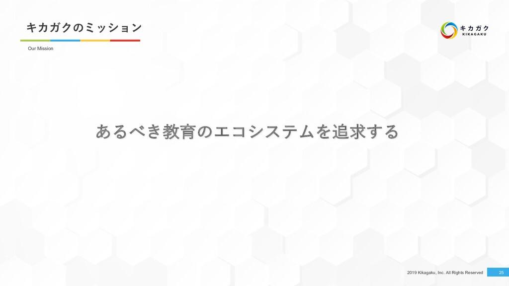 2019 Kikagaku, Inc. All Rights Reserved キカガクのミッ...