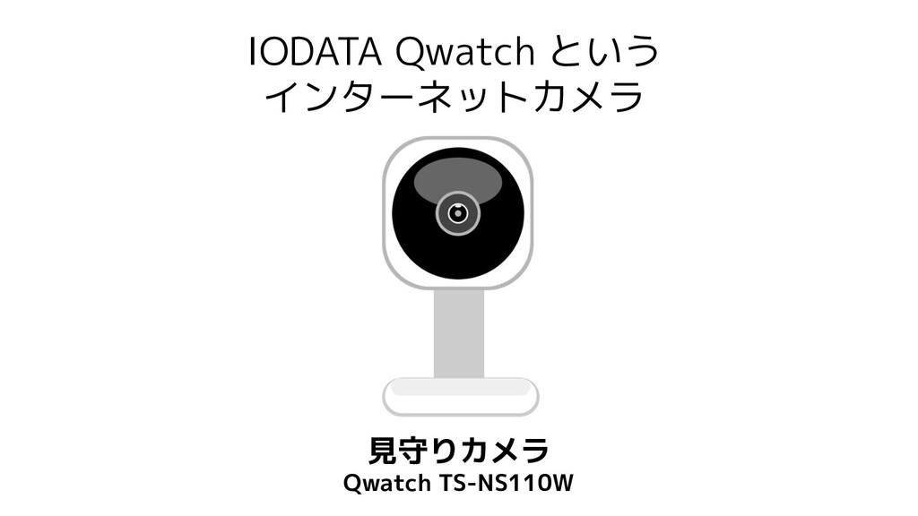 IODATA Qwatch という インターネットカメラ 見守りカメラ Qwatch TS-N...