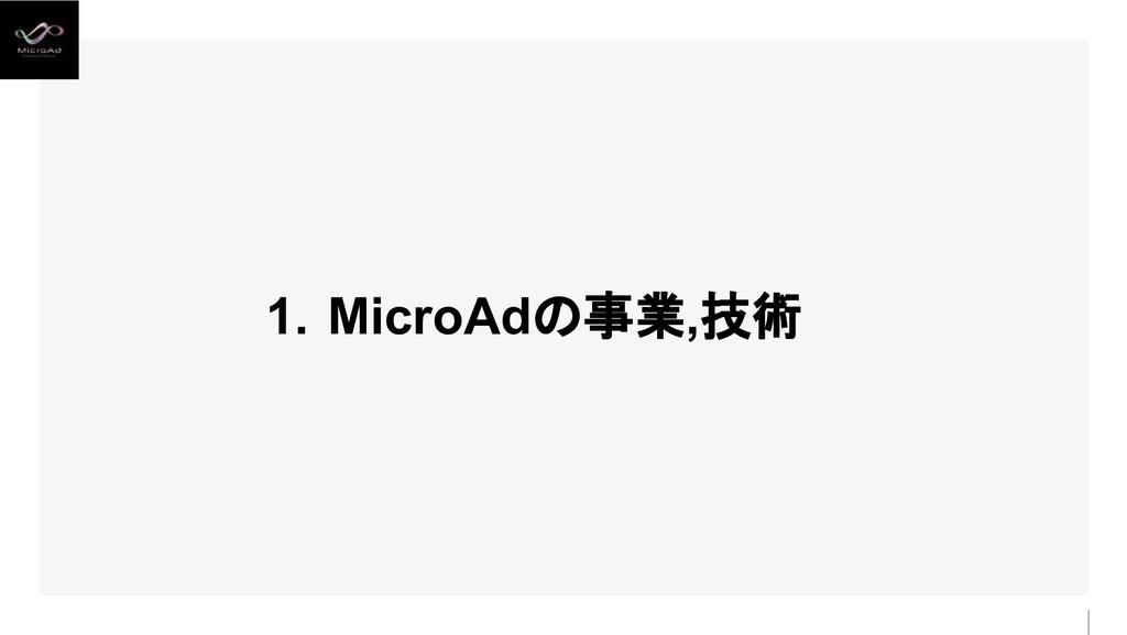 1. MicroAdの事業,技術