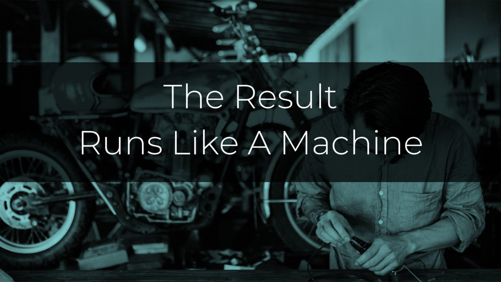 Common Features The Result Runs Like A Machine