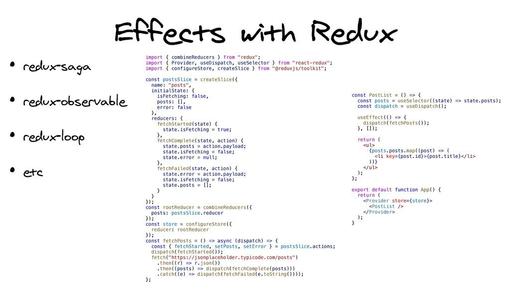 Effects with Redux import { combineReducers } f...