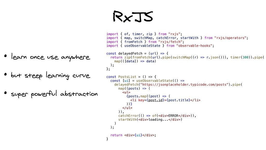 """RxJS import { of, timer, zip } from """"rxjs"""";   i..."""