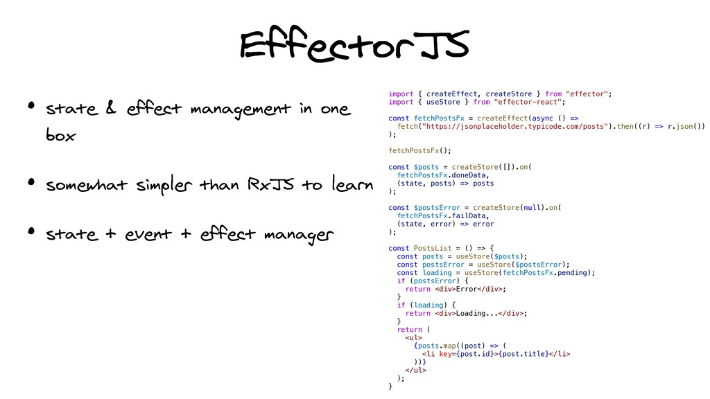 EffectorJS • state & effect management in one b...