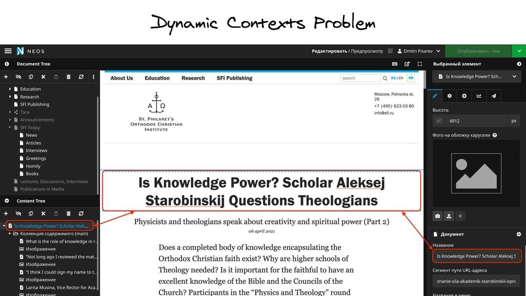 Dynamic Contexts Problem