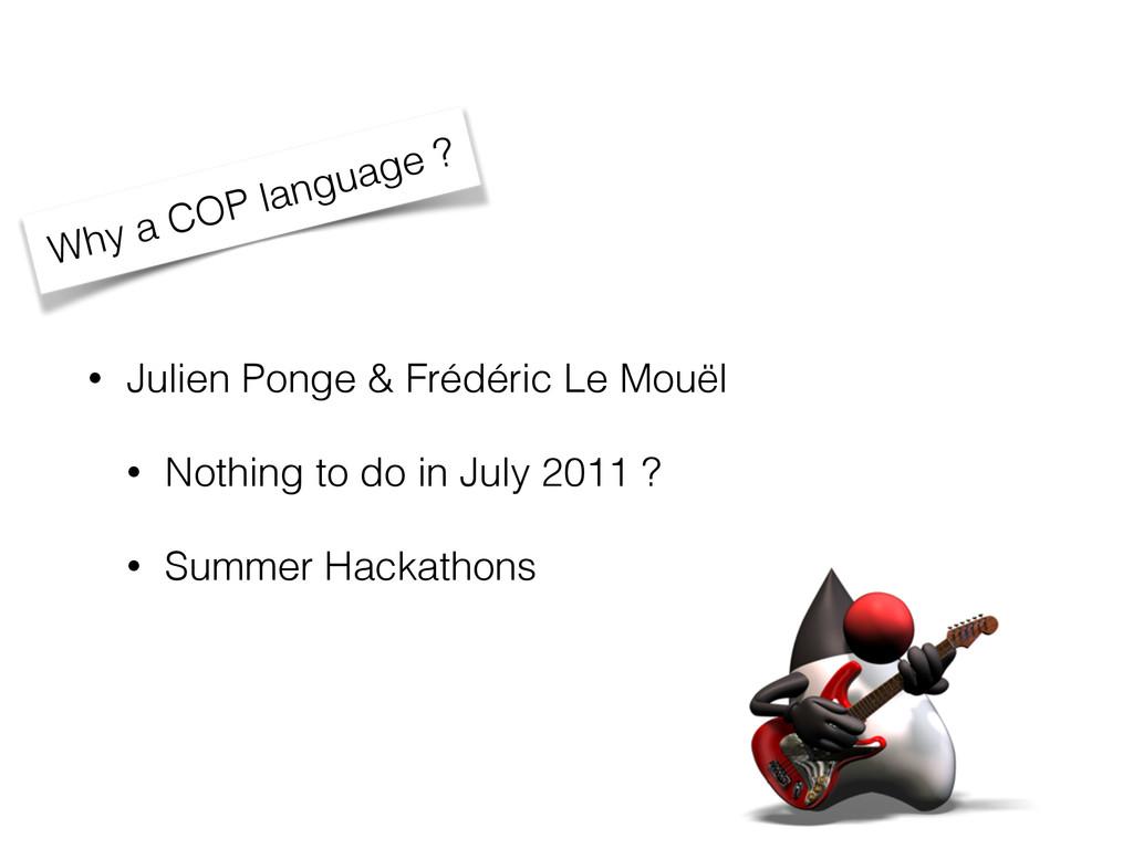 • Julien Ponge & Frédéric Le Mouël • Nothing to...