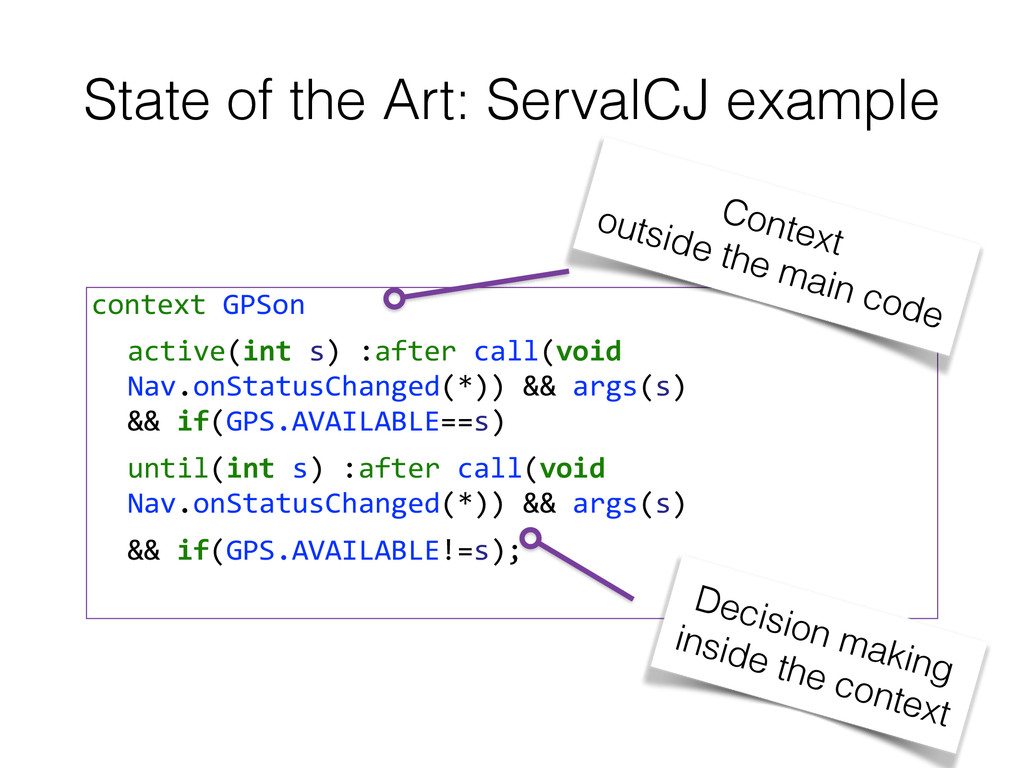 State of the Art: ServalCJ example context G...