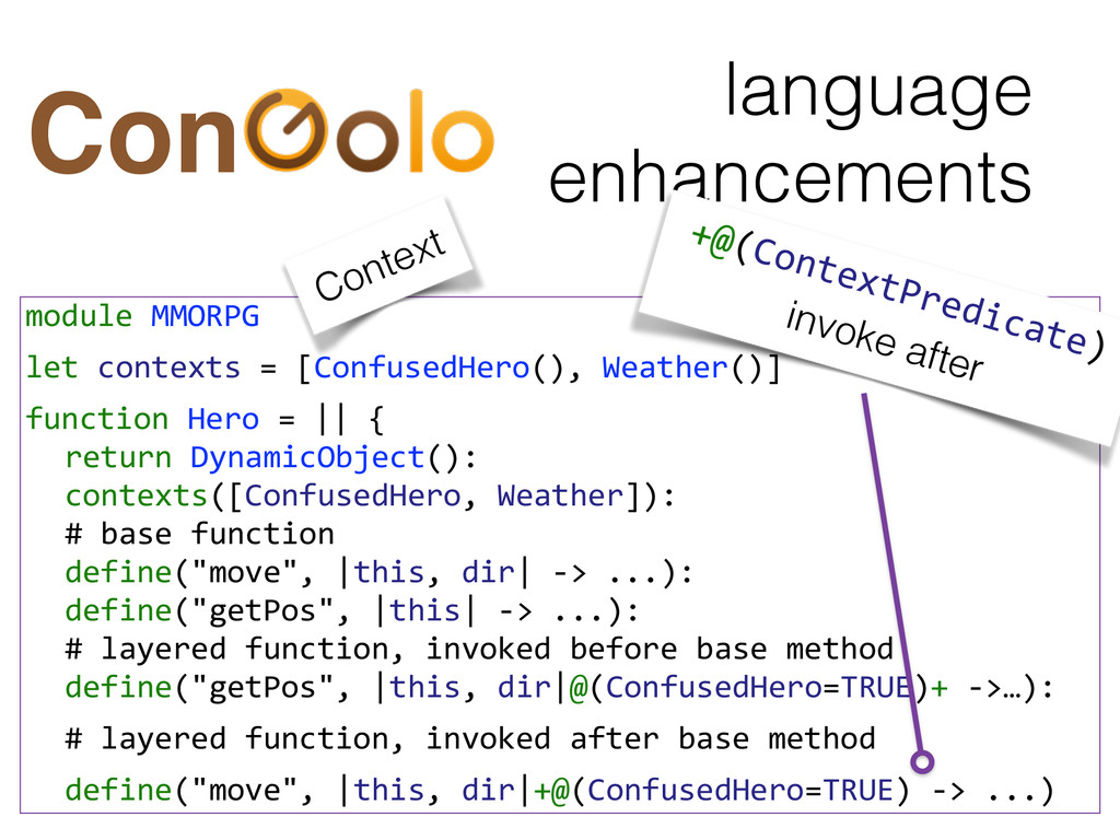 language enhancements Con module MMORPG  ...
