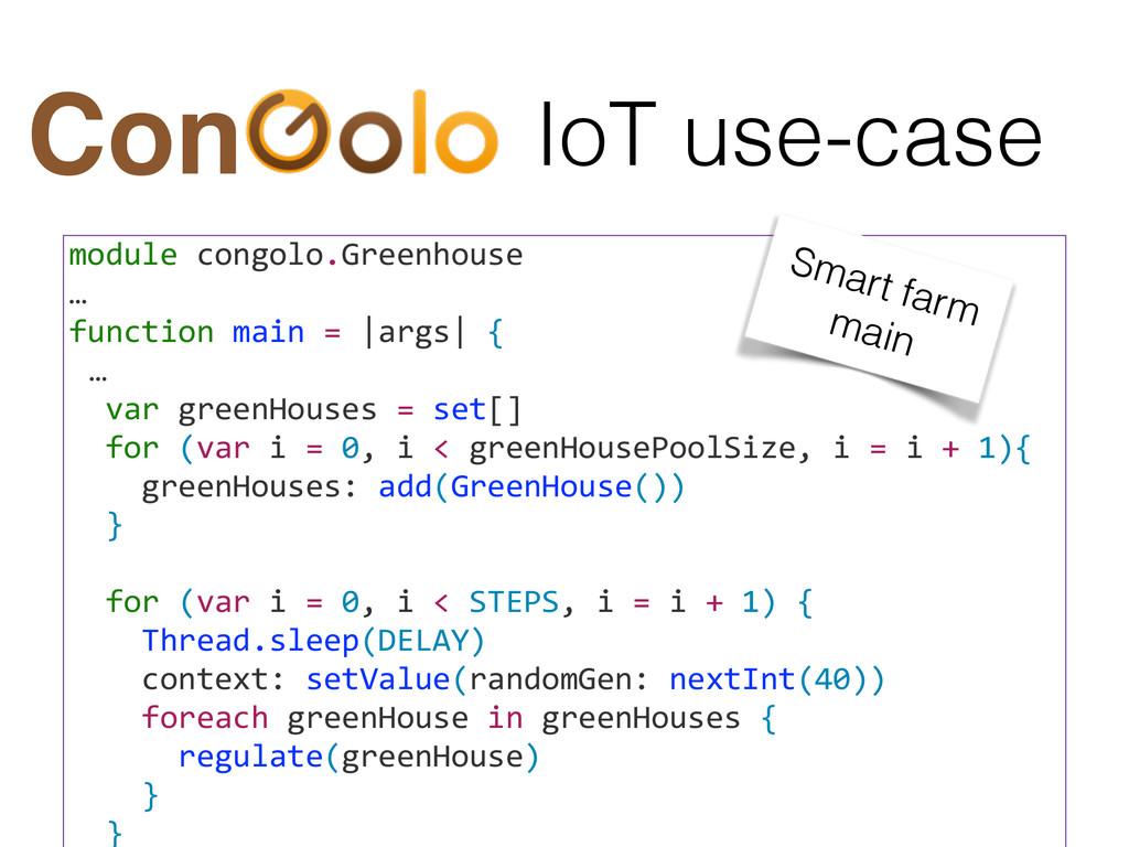 IoT use-case Con module congolo.Greenhouse...