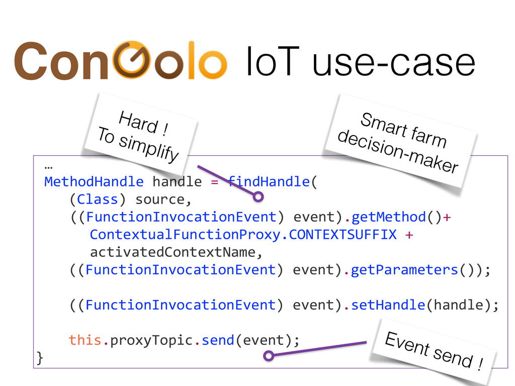 IoT use-case Con …  MethodHandle handle...