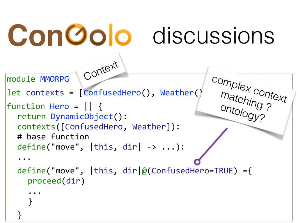 discussions Con module MMORPG  let con...