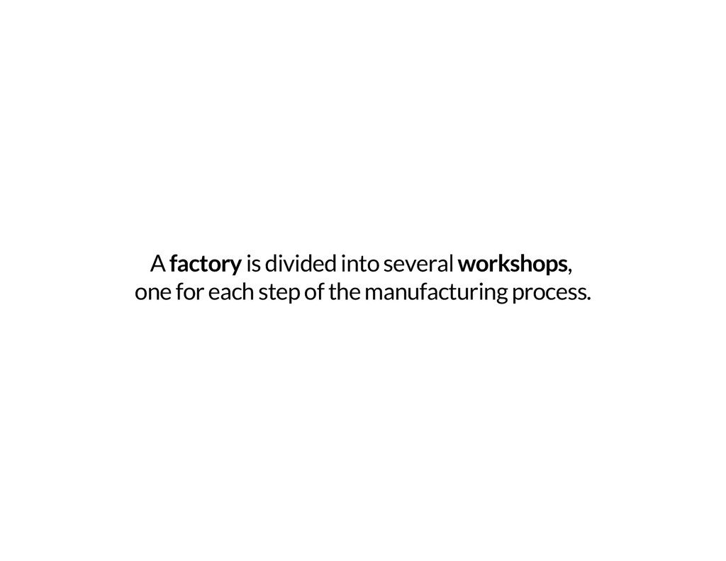 A factory is divided into several workshops, on...