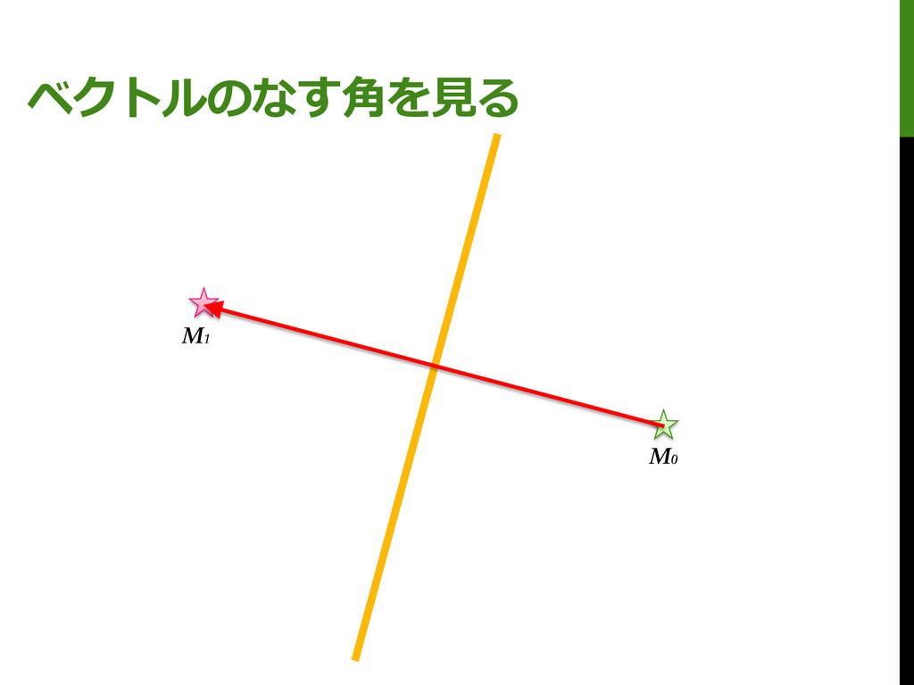 ベクトルのなす角を見る M0 M1