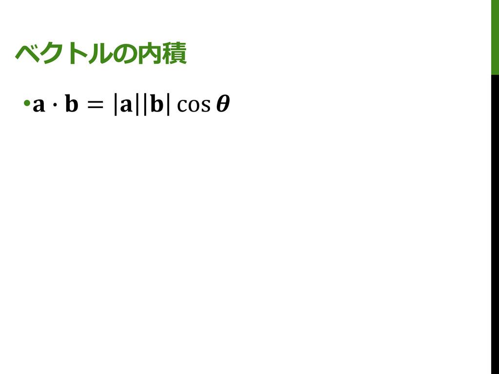 ベクトルの内積 • ∙  =   cos
