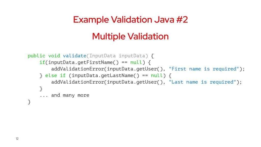 Example Validation Java #2 Multiple Validation ...