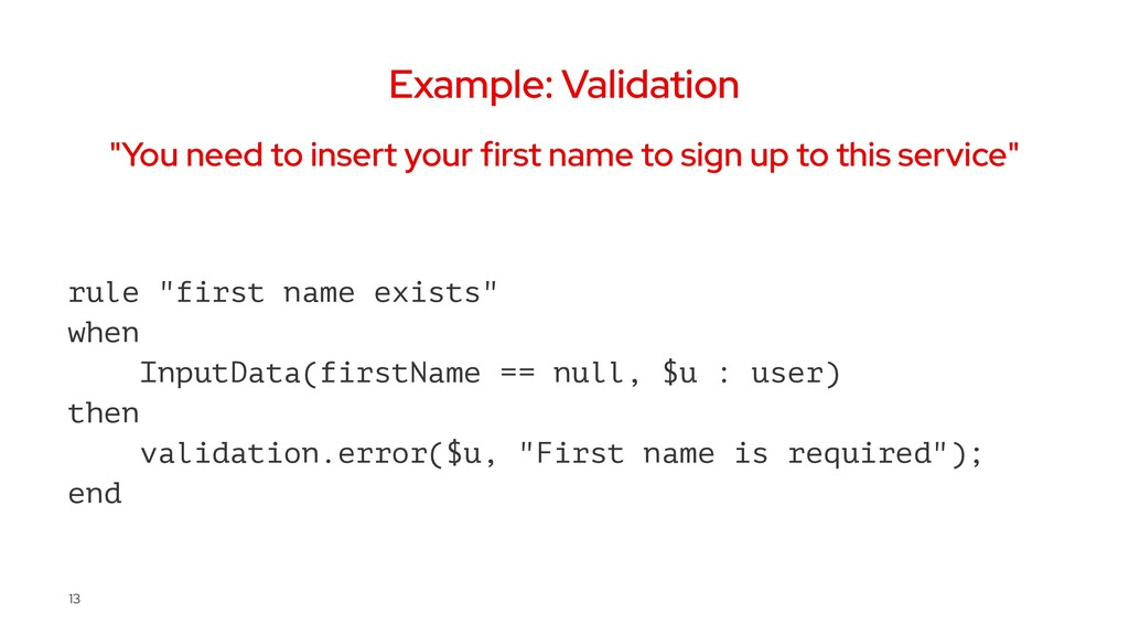 """Example: Validation """"You need to insert your fi..."""