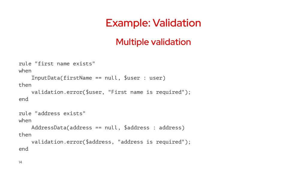 """Example: Validation Multiple validation rule """"f..."""