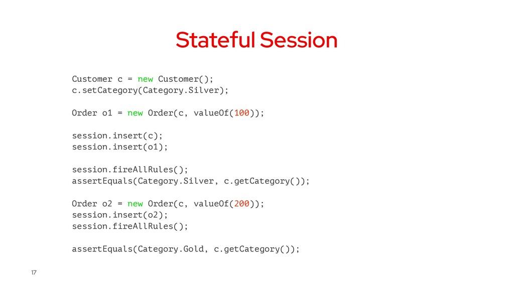 Stateful Session Customer c = new Customer(); c...