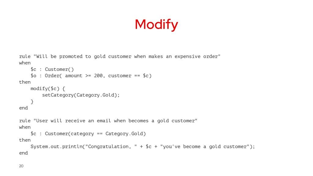 """Modify rule """"Will be promoted to gold customer ..."""