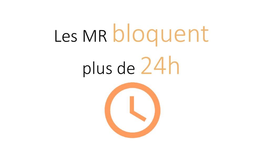 Les MR bloquent plus de 24h