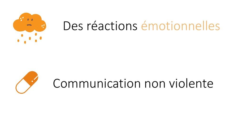Des réactions émotionnelles Communication non v...