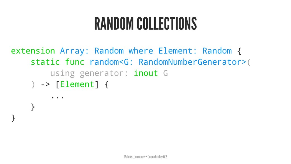 RANDOM COLLECTIONS extension Array: Random wher...