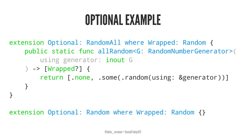 OPTIONAL EXAMPLE extension Optional: RandomAll ...