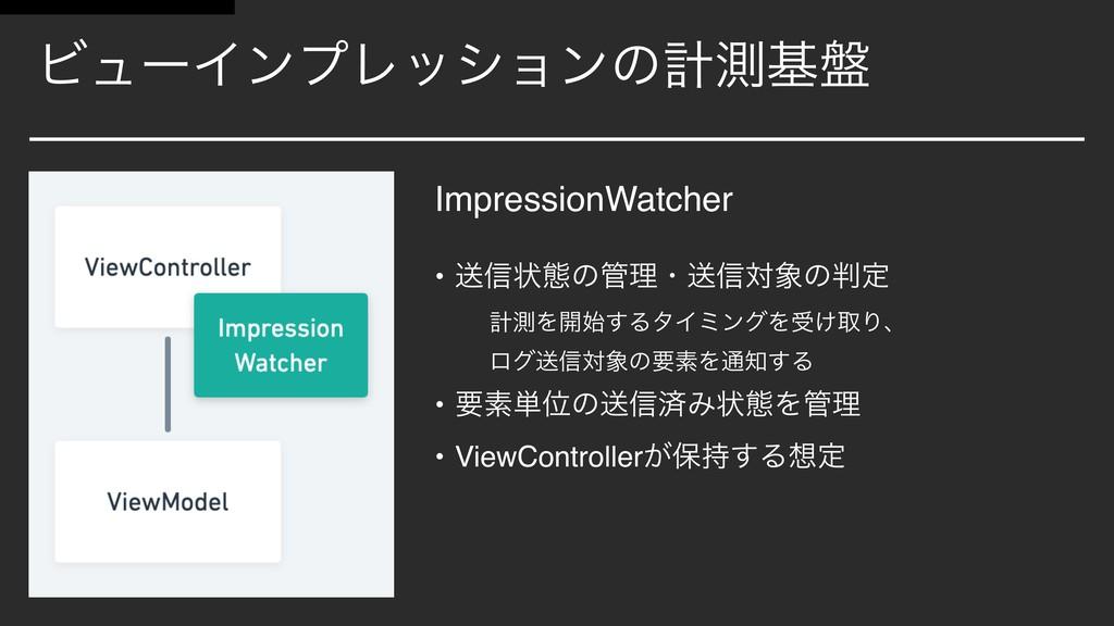 ϏϡʔΠϯϓϨογϣϯͷܭଌج൫ ImpressionWatcher • ૹ৴ঢ়ଶͷཧɾૹ৴...