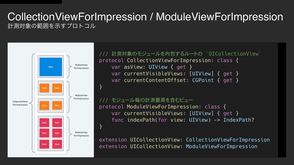 CollectionViewForImpression / ModuleViewForImpr...