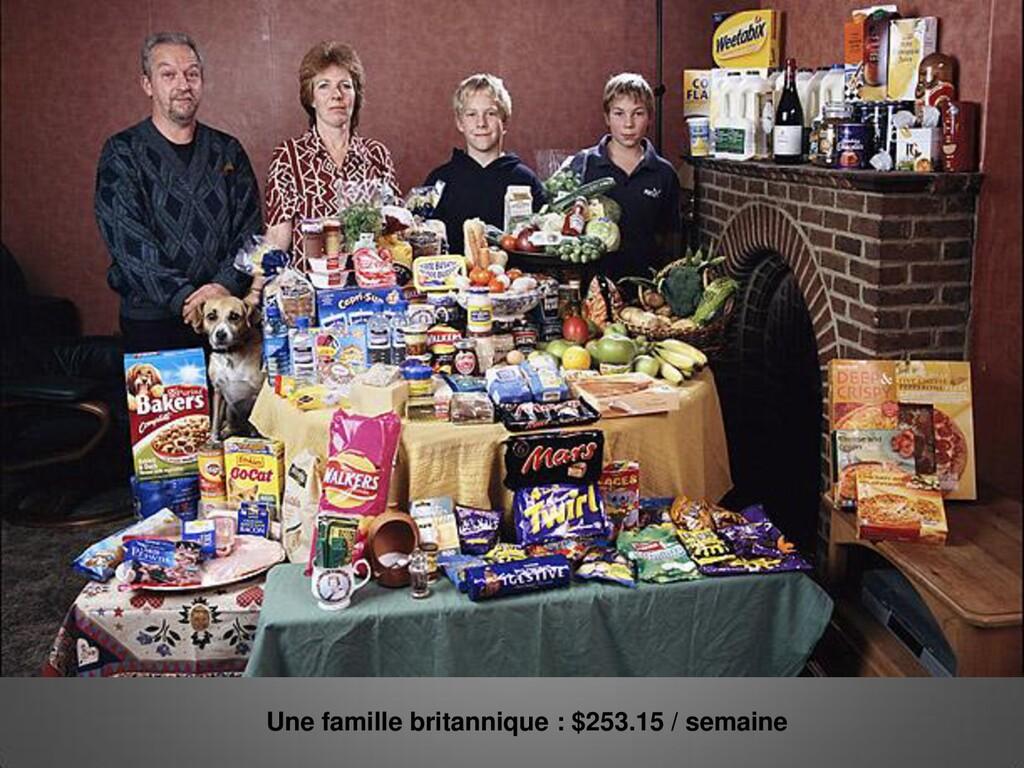 Une famille britannique : $253.15 / semaine