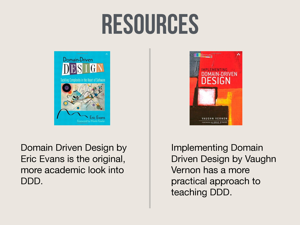 Resources Domain Driven Design by Eric Evans is...