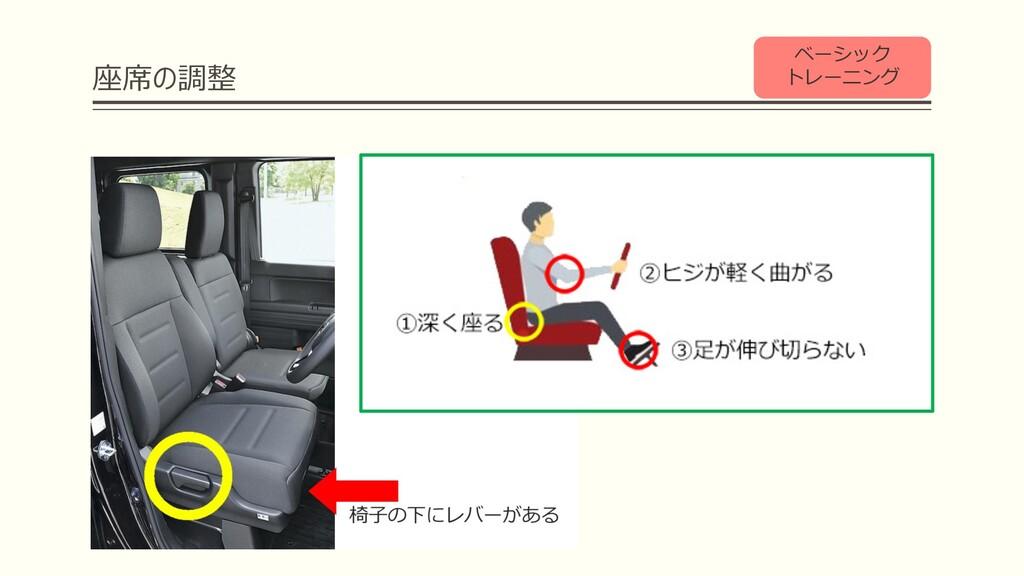 座席の調整 ベーシック トレーニング