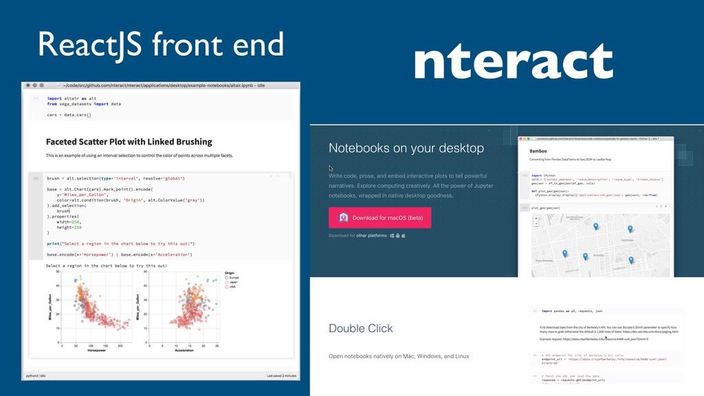 nteract ReactJS front end