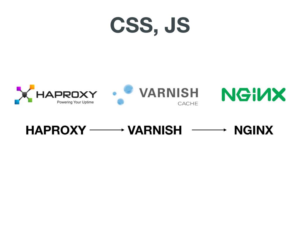 HAPROXY VARNISH NGINX CSS, JS