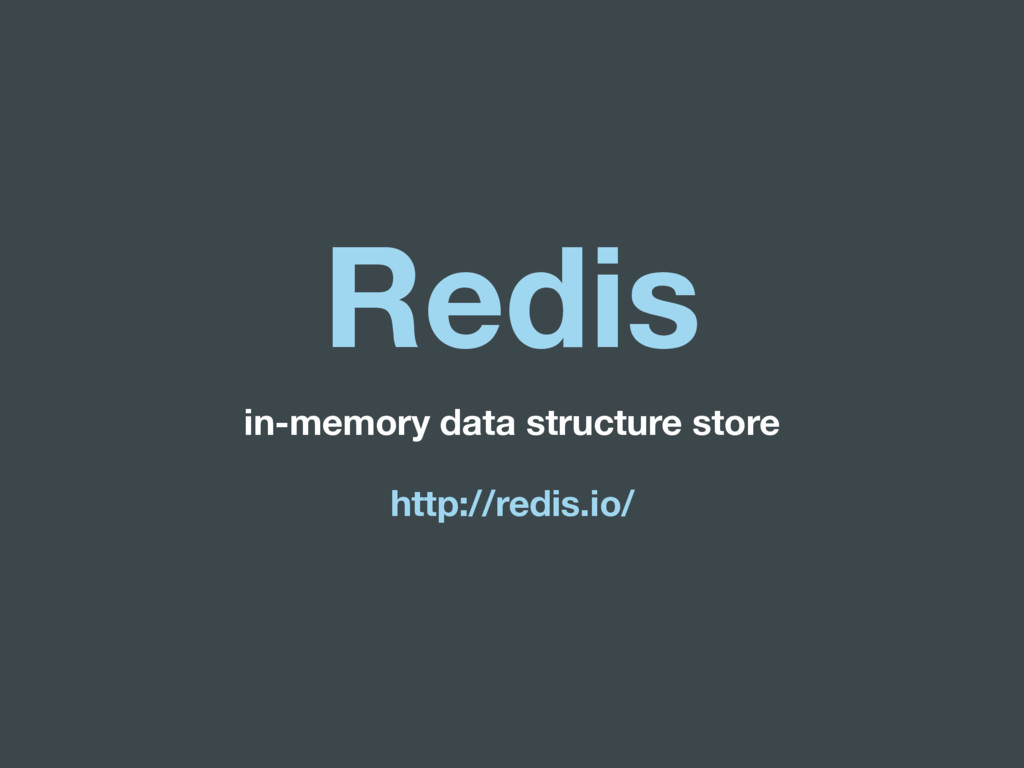 Redis in-memory data structure store http://red...