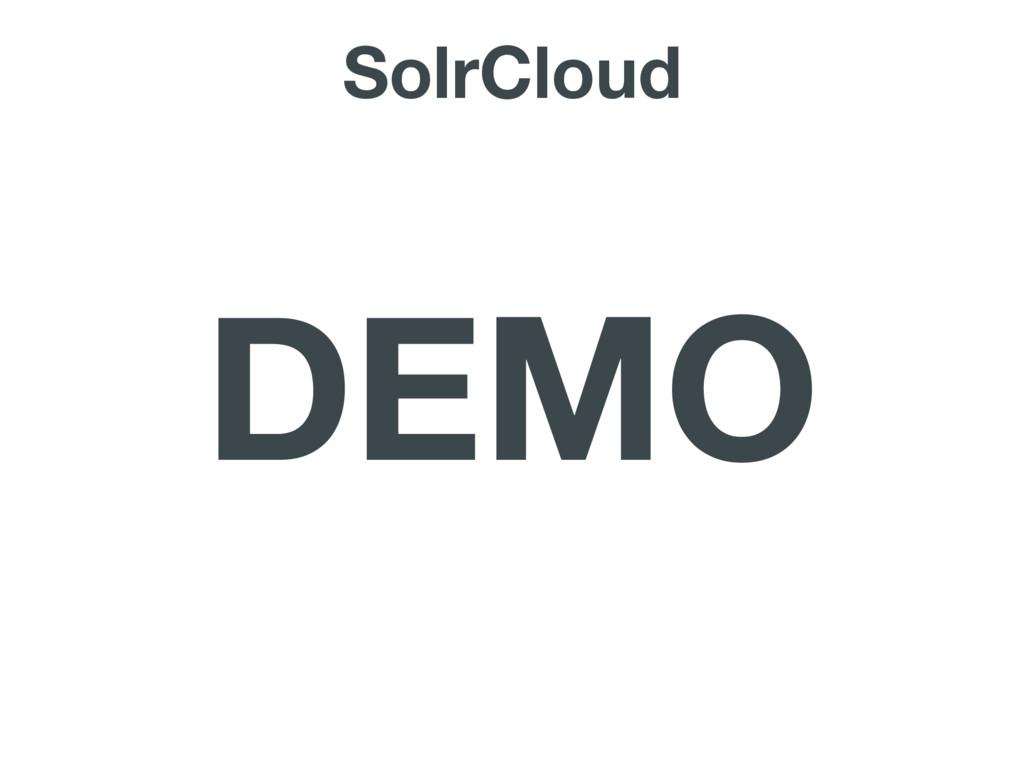SolrCloud DEMO