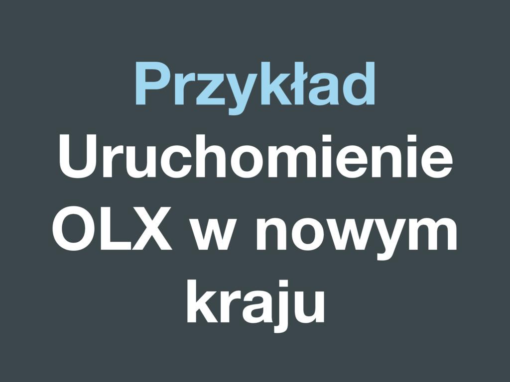 Przykład Uruchomienie OLX w nowym kraju