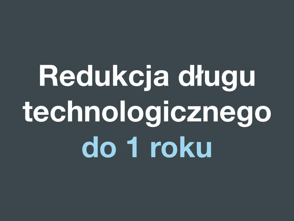 Redukcja długu technologicznego do 1 roku
