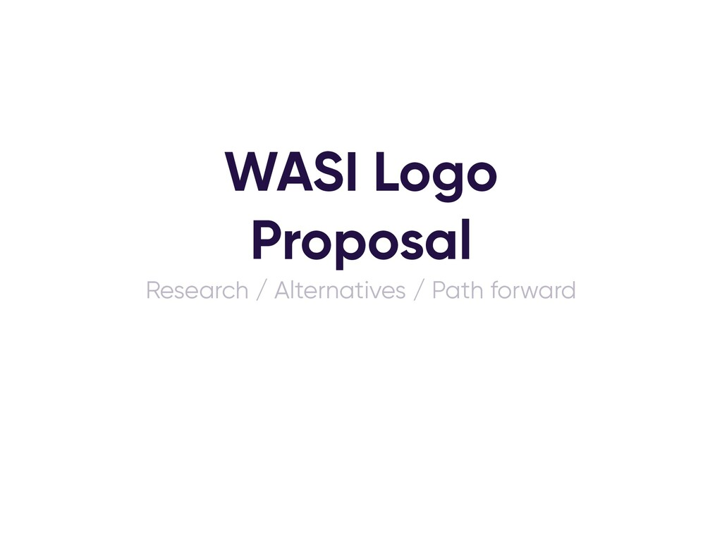 WASI Logo Proposal Research / Alternatives / Pa...