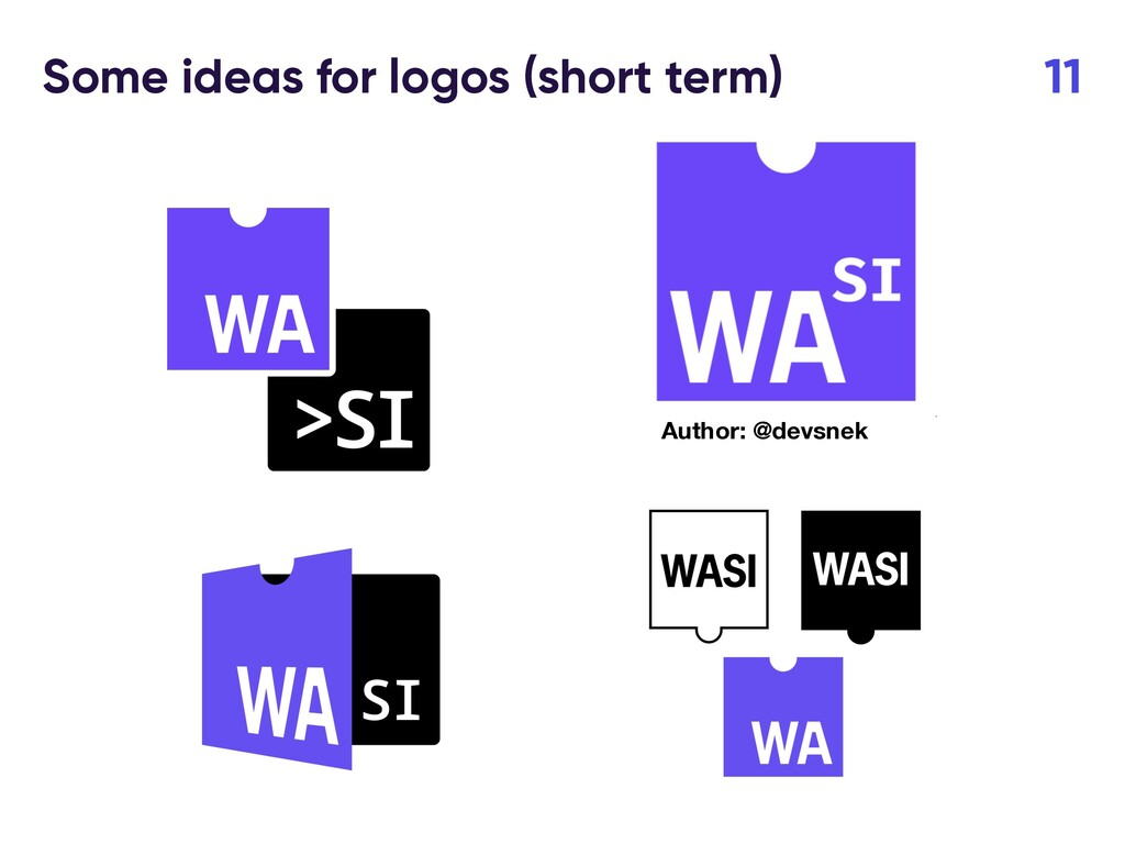 Some ideas for logos (short term) 11 Author: @d...