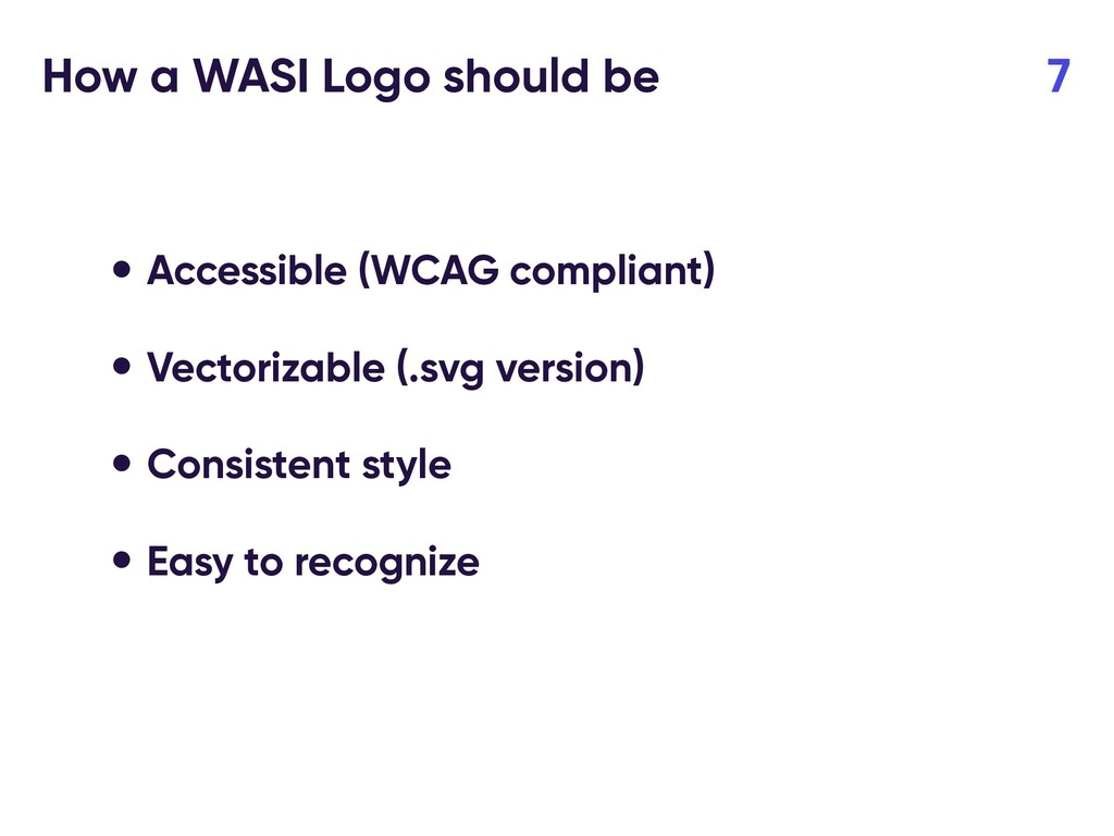 How a WASI Logo should be 7 • Accessible (WCAG ...